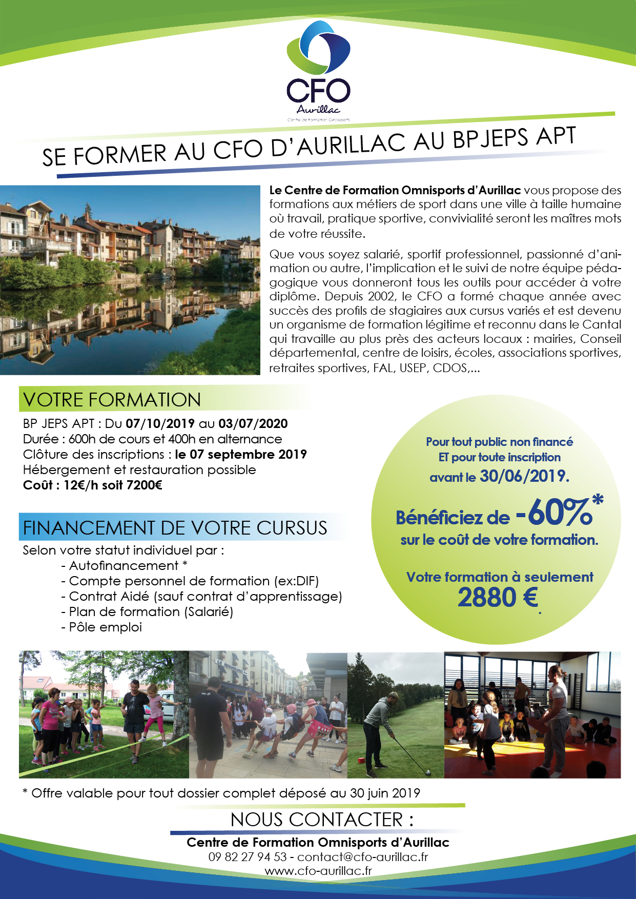 Offre BP APT - Offre promotionnelle sur les BPJEPS APT/AAN/AF!!